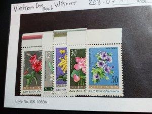Democratic Republic of Vietnam Scott #203-07 Flowers MINT NEVER HINGED