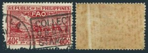 Philippines C67,used.Michel 486. Conference of FAO,Bagio,1948.Threshing.