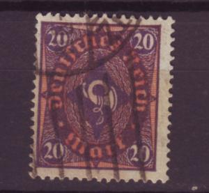 J13681 JLstamps 1921-2 germany used #182 wmk 126 posthorn