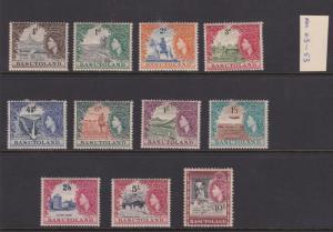 Basutoland 1954  #46-56 Definitives VF Mint