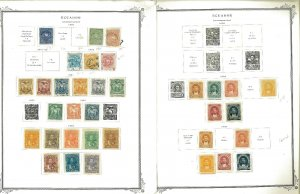 Ecuador 1865-1961 M & U Hinged on a Mix of Remaindered Pages.