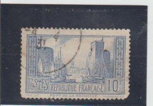 France  Scott#  251  Used  (1938 Port of La Rochelle)