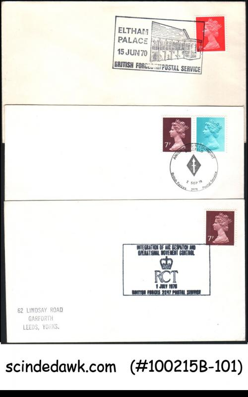 GREAT BRITAIN - SELECTED BRITISH FORCES SPECIAL COVER WITH SPECIAL CANCL. 10 nos