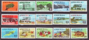 J22389 Jlstamps 1969 anguilla set mh #53-67 ovpt,s
