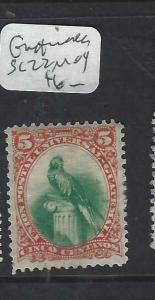 GUATEMALA   (P2403B)  QUETZEL BIRD  5C  SC 22   MOG