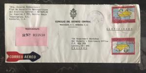 1975 Tegucigalpa Honduras Diplomatic Cover To Government Bookshop London England