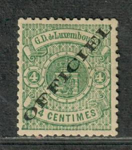 Luxembourg Sc#o13 M/H/VF, Cv. $100