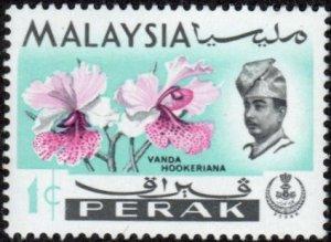 Perak 139 - Mint-NH - 1c Orchid / Sultan Idris Shah (1965)