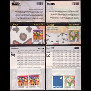 DENMARK 2002 - Scott# 1224A-5B Booklet-Europa NH