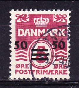 Faroe Islands   5 Used 1940 50o on 5o Surcharge CV $90.00
