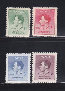 Papua New Guinea 118-121 Set MH King George VI (C)