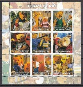 Mauritania, 2003 issue. Teddy Bears sheet of 9. ^