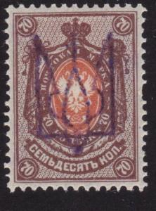 UKRAINE opt on RUSSIA ..An old forgery of a classic stamp..................69132