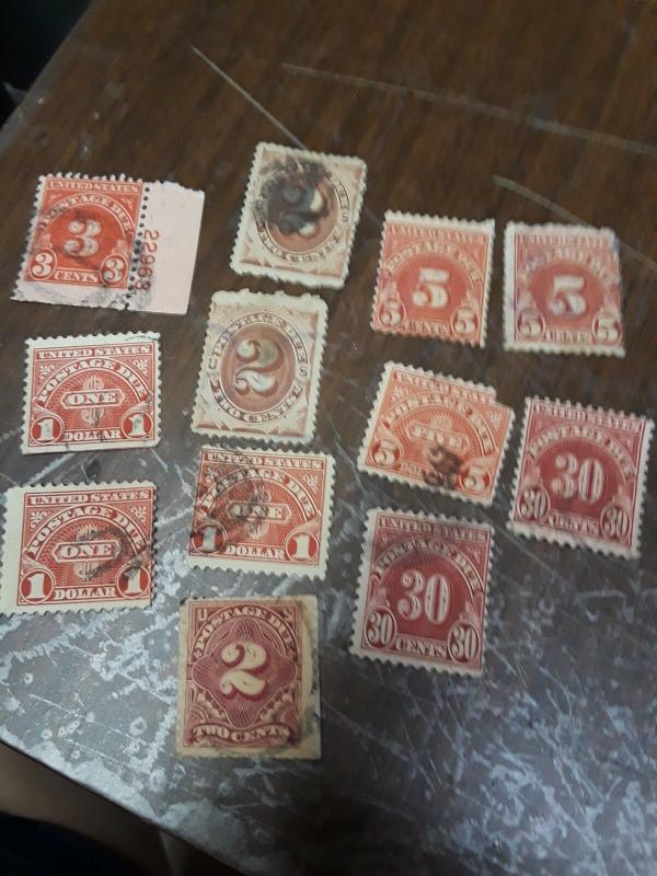 USA Used Postage Due Lot 9