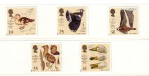 Great Britain Sc 1653-7 1996 Wildfowl Trust stamps mint NH