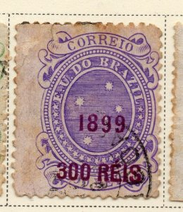 Brazil 1899 Early Issue Fine Used 300r. Surcharged Optd NW-12090