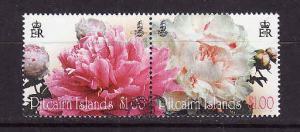 Pitcairn Is.-Sc#714a-used set-Flowers-Peonies-2011-