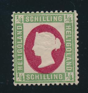 Heligoland Stamp Scott #8 (Reprint?), Mint/Unused No Gum, Off Center - Free U...