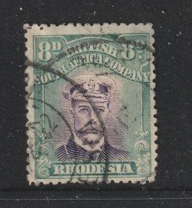 Rhodesia a used KGV 8d die 3