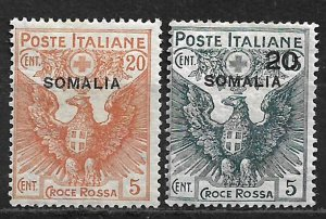 COLLECTION LOT OF # B3-4 SOMALIA MH 1916 2 SCAN CV+ $83