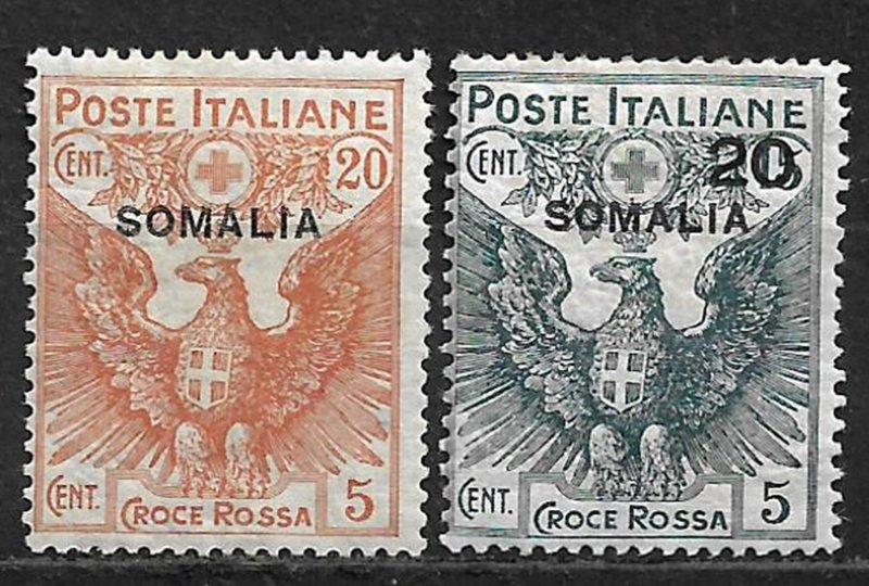 COLLECTION LOT OF # B3-4 SOMALIA MH 1916 2 SCAN CV+ $83
