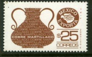 MEXICO Exporta 1129, $25P COPPER VASE. Fluor Paper 7. MINT, NH. VF.