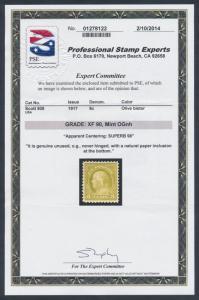 #508 SUPERB OG NH GEM - PERFECTLY CENTERED - WITH PSE CERT HV7281