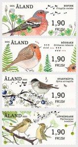 Stamps Aland Islands 2021 - Franking Labels - Songbirds - Set