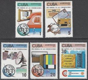 Cuba 2623-7 MNH World Communications Year 1983