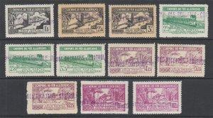 Algeria Y&T 84-94  MLH. 1941-1942 Parcel Post, missing low value, o/w cplt & VF