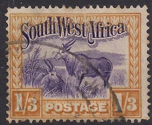 South West Africa 1931 KGV 1/-3d Elands used SWA SG 81 ( J1478 )