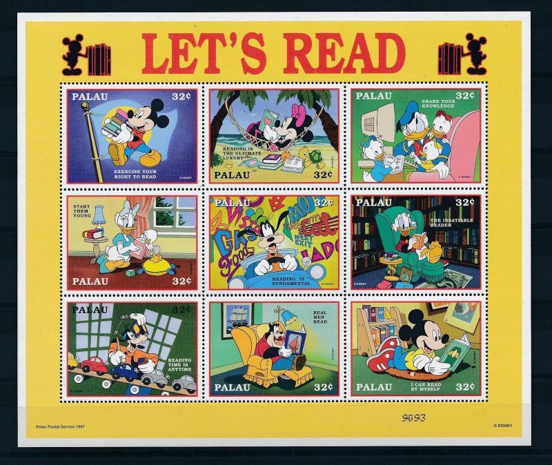 [25102] Palau 1997 Disney Let's Read Mickey Donald Duck Goofy