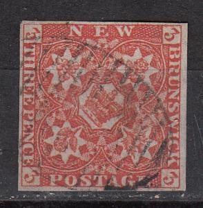 New Brunswick 1 SG 2 Used F/VF 1851 SCV $575.00