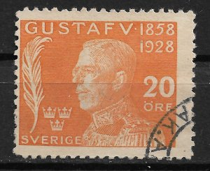 1928 Sweden B35 King Gustaf V 20+(5) used.