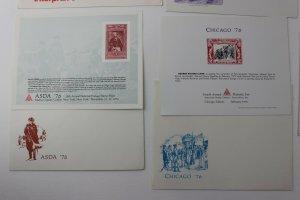 ASDA INTERPHIL INTERPEX LISDA CHICAGO Philatelic Expo club Souvenir card 1976 76