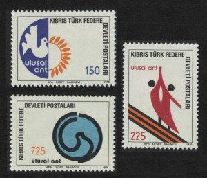Turkish Cyprus Birds National Oath 3v 1978 MNH SG#68-70