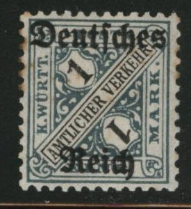 Germany State Wurttemberg Scott o183 MH* Toned Perfs