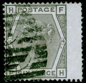 SG147, 6d grey plate 14, USED. Cat £90. FH