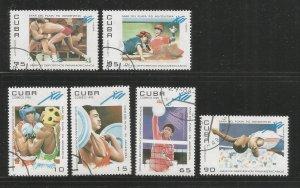 CUBA – 1995 – PAN AMERICAN GAMES - #3624-3629 – SET OF 6 – USED/CTO