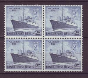 J17492 JLstamps 1955 germany berlin occup,t mnh #9n114 blk/4 ship berlin