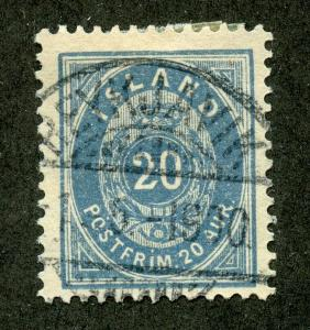 ICELAND SCOTT# 28 FINELY USED AS SHOWN CATALOGUE VALUE $50