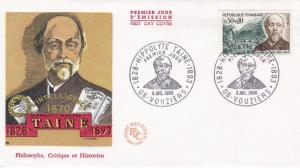 France 1966 Hippolyte Taine FDC Unadressed VGC