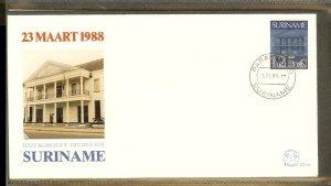 1988 - Rep. Surinam FDC E122XX - Misc.Topics - Central Bank in Paramaribo [LN...
