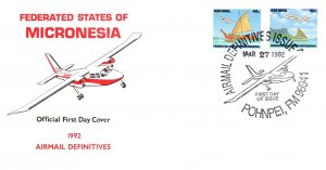 Micronesia, Worldwide First Day Cover, Aviation, Ships