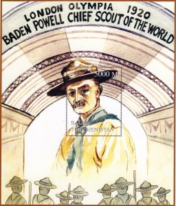Turkmenistan 1998 Baden Powell Chief Scout of the World London Olympia 1920 S/S