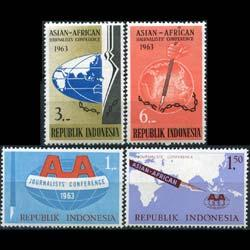 INDONESIA 1963 - Scott# 593-6 Journalists' Conf Set of 4 NH