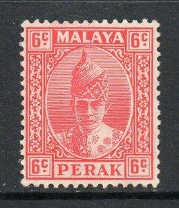 Malaya Perak 1938 KGVI 6c scarlet SG 109 mint