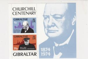Gibraltar Centenary of Birth Sir Winston Churchill MNH Stamps Sheet Ref 27124