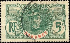 DAHOMEY - 1911 - CACHET À DATE DE GRAND-POPO SUR 5c FAIDHERBE