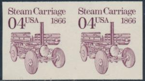 #2451a IMPERF PAIR ERROR OG NH STEAM CARRIAGE CV $525 BT6570